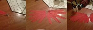 Arakkoa Cosplay Wing Progress by querulousArtisan