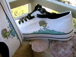 Painted shoes for my father by vrlovecats