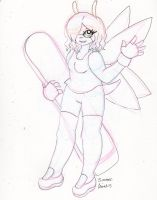 Redesign - Summer the Butterfly (inked) by Elainatehkitty