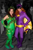Poison Ivy and Batgirl cosplay by MidnightSkyPhoto