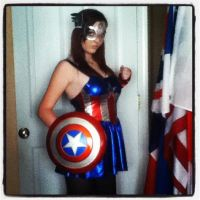 Female Captain America by savy-chan