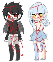 Angel/Demon adoptables CLOSED by ZombieMelon