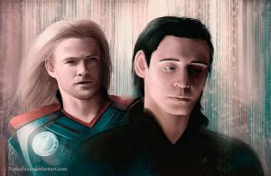 Thor and Loki - Brother? by Darkellaine