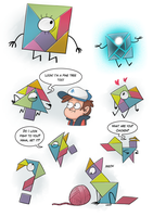 Tad Strange the Tangram by markmak