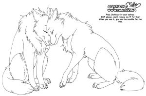 Wolves Free outline by RukiFox