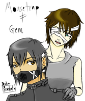 Mousetrap and Gem the Unclaimed [Creepypasta OCs] by BakaReonhato