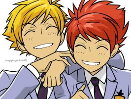 Sunny and Sides as Hitachiins by LaviXKandalover