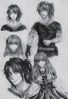 .Mirage Noir. Character sketches by Noire-Ighaan