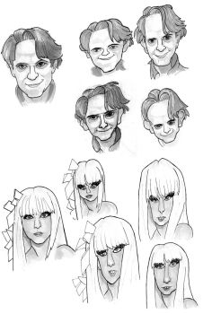 John Linnell and Lady Gaga by frankenollies
