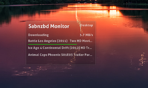 SABnzbd Monitor for Rainify by dcrutgers