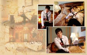 Logan Lerman Wallpaper by carolmunhoz