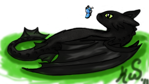 Toothless by RikuFanGirl