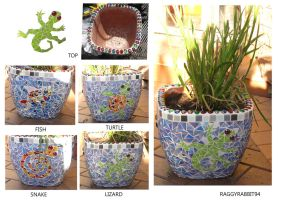 Garden Pot Mosaic Finished. by raggyrabbit94