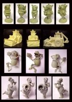 Unpainted Various by FantasyCharacterz