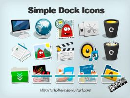 Simple Dock System Icons by Turhothgor