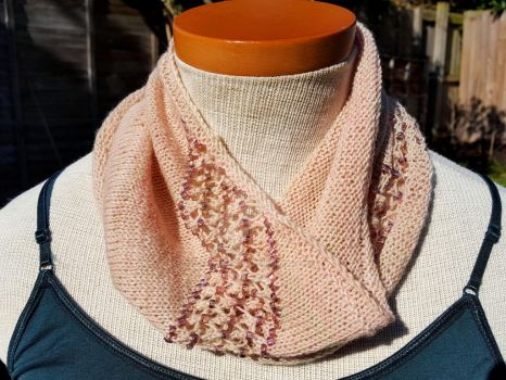 Beaded Blush Cowl by FearlessFibreArts