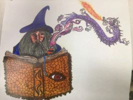 Wizard and Dragon Pipe V2 by AriGirl101