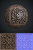 Moorish lattice texture by Leonid-k