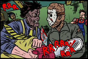 Jason vs Leatherface by theEyZmaster