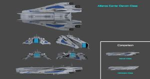 Alliance Aircraft Carrier Darwin Class Concept by nach77