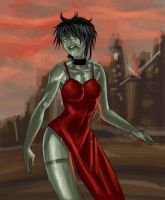 10$ commission zombie ada wong by haribon