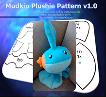 Mudkip Plushie Pattern v1.0 by craftysorceress