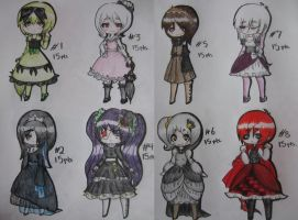 Gothic Lolita Adopts 15pts CLOSED by AnimeBoyCrazy4