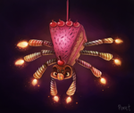 DAY 78. Cake Spider (30 Minutes) by Cryptid-Creations