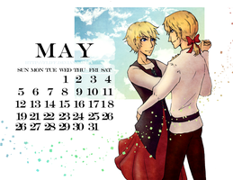 May Calendar (France and Joan of Arc) by fliff