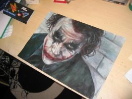 the joker with oil pastels by camron91