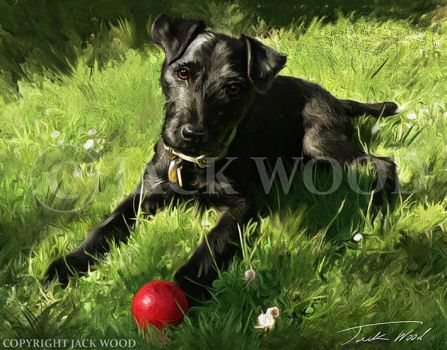 George with Ball by Jack-Wood