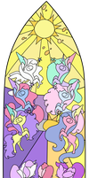 Six Princesses Stained Glass by Otterlore