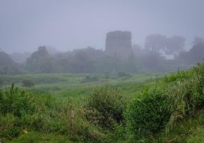 Brittany 17 - Ruined Castle in the Fog by HermitCrabStock