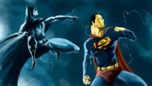Superman and Batman by matches23