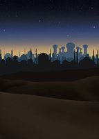 Stock: Aladdin night scene background by Greyfaerie4