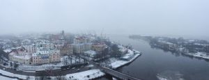 Misty snowy day by xrust