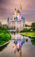 Cinderella's Castle at Dusk 2 by Earth-Divine