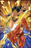 Wonder Woman and Flash by thisisanton