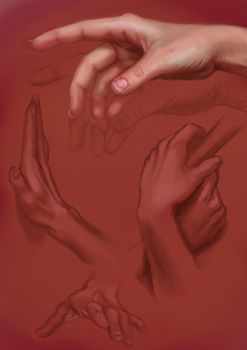 1 Hour: Hand Study by Risachantag