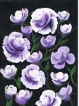 Purple roses by Abaez40