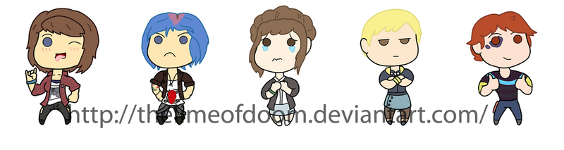 Life is Strange chibis by thelimeofdoom