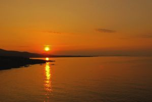 Sunset Above Calm Waters by Beliar6