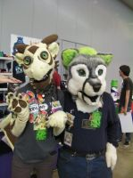 Anthrocon 2013: Ayne and ??? by murkrowzy