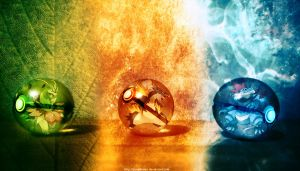 The Pokeballs of Johto Mega Starters by Jonathanjo