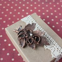 Hawthorn brooch by WhiteSquaw