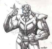 Thanos (pencils) by emmshin