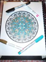 Another Mandala WIP2: slowly adding colors by kayanah