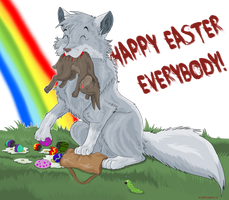 Easter Bunny Assaulted by StarlightsMarti