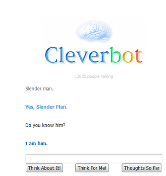 Clever Bot is Slender Man by Anuksut