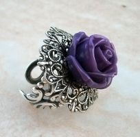 Purple Rose Ring by Aranwen